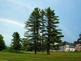 Rainbow over Maplewood Clubhouse